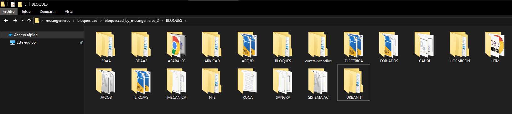 block folders