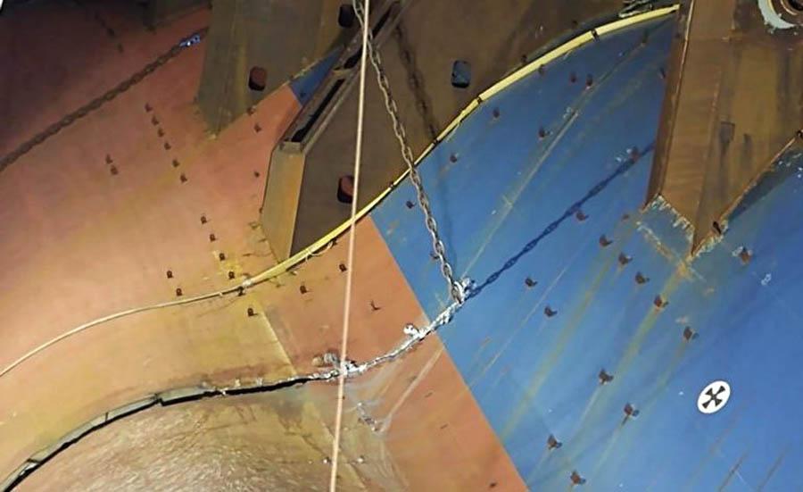 cortar buque con cadena