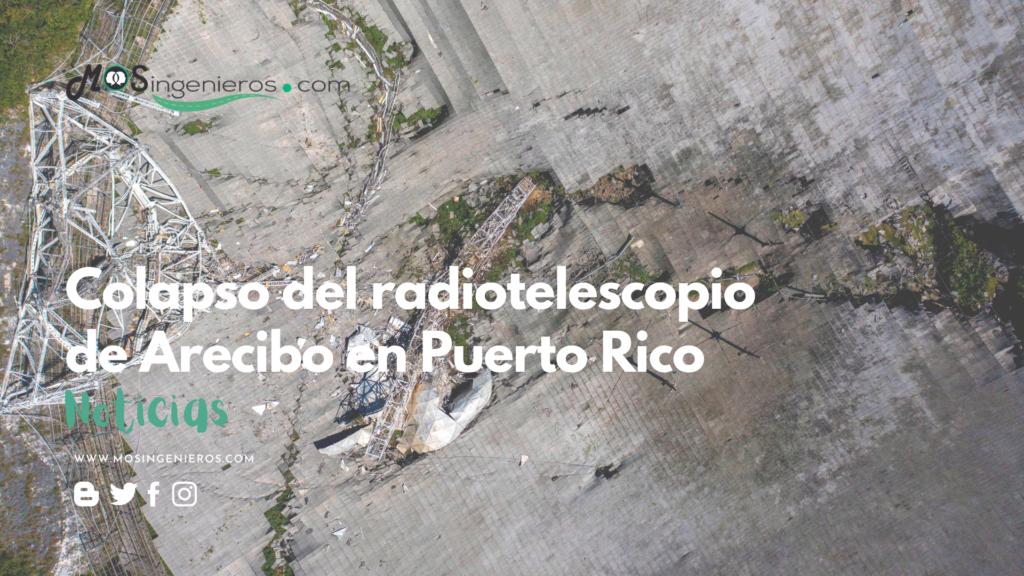 video colapso radiotelescopio Arecibo